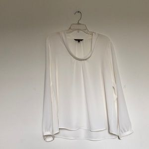 Express VERY SHEER white blouse -NWOT